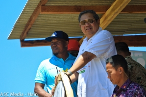 Past Indonesian President Susilo Bambang Yudhoyono Presents Surf Trophies at Pacitan