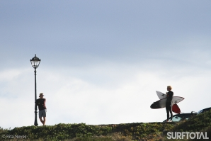 Elite surfers start firing up in Peniche