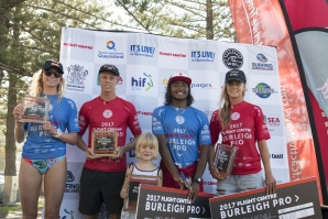 Indonesian Oney Anwar and Isabella Nichols (AUS) have taken out the 2017 Flight Centre Burleigh Pro....
