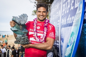 Michel Bourez (PYF) has won the Billabong Pipe Masters