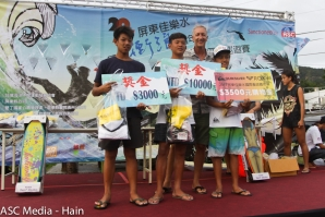 Champions Crowned to Complete the 12th Jaileshuei Surf Festival 2017 in Taiwan