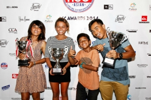 Asian Surfing Championship Awards in Bali Celebrate Asia's 2014 ASC Surfing Champions