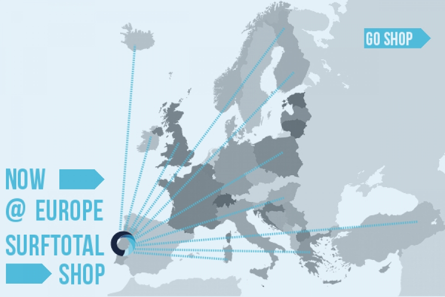 SURFTOTAL SHOP IS NOW SHIPPING TO EUROPE