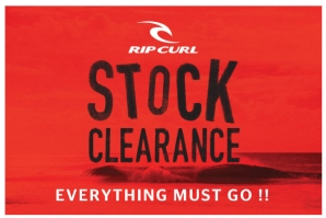 RIP CURL STOCK CLEARANCE AT SUNSET ROAD