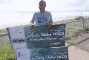 KELLY SLATER'S DOUBLE WIN