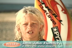 JOHN JOHN SURFING AS A YOUNG GROM