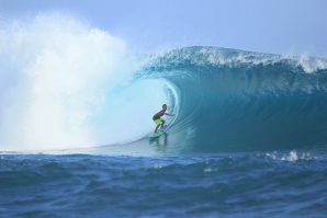 Loyal to his home break - Lakey Peak-, his favorite surf spot will always be home!