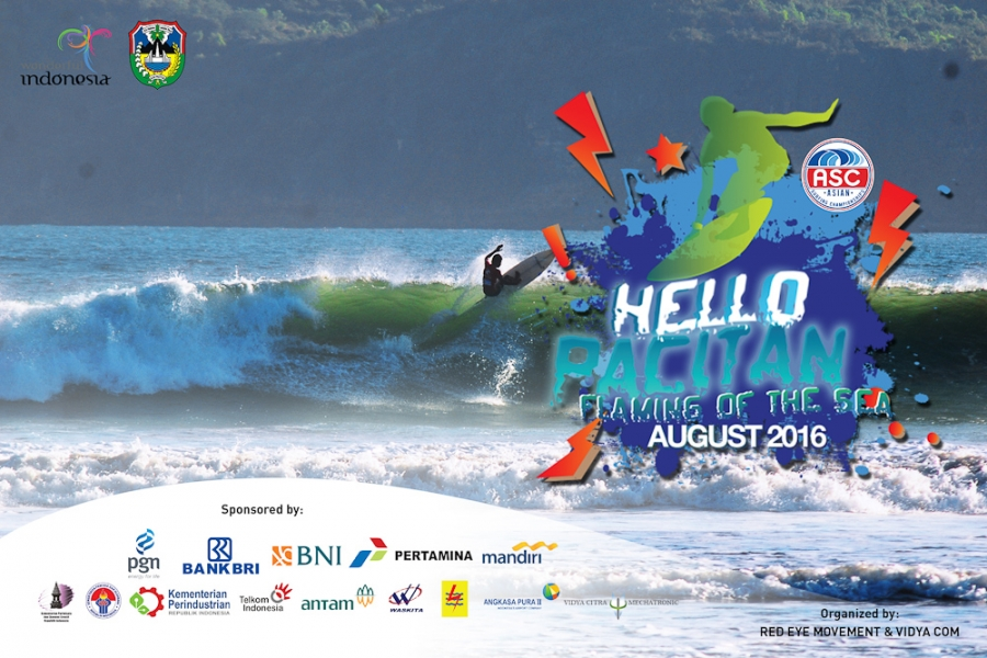 "Hello Pacitan 2016 ""Flaming of the Sea"" ASC Sanctioned International Surfing Event"