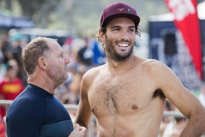 Frederico (Kikas) Morais with his coach, Richard Marsh. / WSL Image