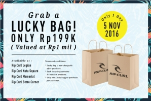 Rip Curl Lucky Bag! For 1 day only on the 5th November