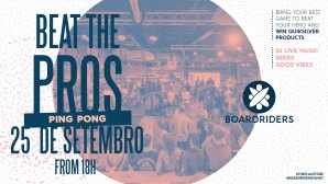 """BEAT THE PROS"" - Ping Pong volta à Boardriders Ericeira"
