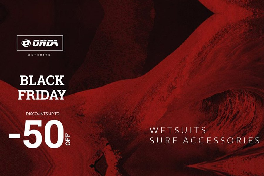 Black Friday na ONDA Wetsuits - Descontos até 50%!