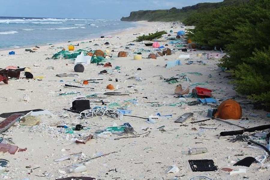 Bem-vindos à ilha mais poluída do Planeta Terra